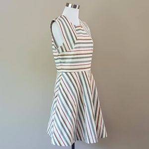 Striped A-Line Dress Kate Spade Saturday  Size 6